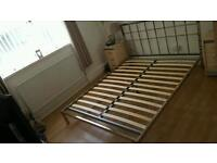 King size Next chrome bed 5ft