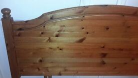 Ducal Victoria Solid Pine Headboard for Double Bed