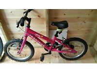 "Ridgeback Melody 16"" girls bike, good condition."