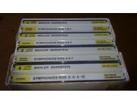 DEUTSCHE GRAMMOPHON GUSTAV MAHLER 10 SYMPHONIUM CD COLLECTION SUPERB CONDITION RARE £25