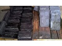"""Large number of 14"""" x 8"""" and 16"""" x 10"""" reclaimed roof slates"""