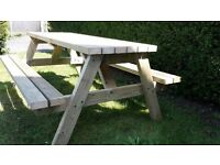 Very heavy duty large picnic benches/pub style