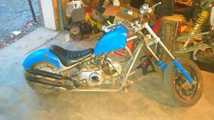110 chopper cash or trade for a dirt bike or atv