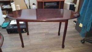 3 set Matching Coffee tables in a dark cherry stain