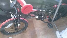 Black and red boy's bike