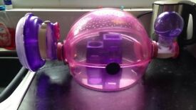Hamster cage globe - Built in drinker, wheel and house
