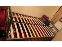bed frame (silver)