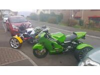 Zxr1200 great condition new brakes new tire unrestricted model ninja green very fast