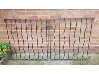 Steel garden gates (pair)