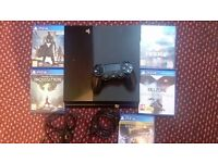 Sony PS4 500gb console with 5 games and all wires and Pad