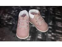 Baby pink timberlands