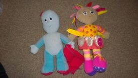 In the Night Garden Large Upsy Daisy and Large Iggle Piggle Fun Sounds Soft Toy.