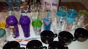 Various glasses, tumblers & vases