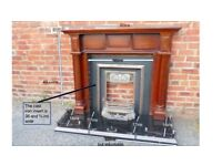 Fireplace, hearth and surround - all together - can deliver locally if bought