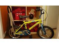 "Boys bike 14"" with parent handle"