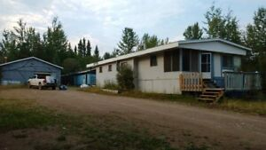2 mobile homes and huge shop on owned lot for sale or rent