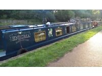 65ft Narrow boat Beautiful Home