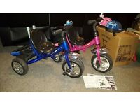 2 x Lexx Trike - 1 pink and 1 blue