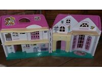 Carry Dolls House with working bell & lights & a mixed assortment of furniture