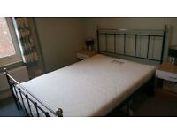 Metal Double Bed Frame With or Without Mattress for Sale. Good Condition!