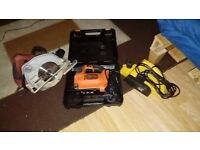Circular Saw, Jigsaw & Planer package