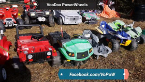 IOS broken BEATEN USED ABUSED POWER WHEELS PEG PEREGO 12v rides