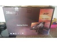 Acer KG281k 28 inch 4K gaming monitor 1 month old