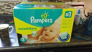 Diapers- Pampers Swaddlers Size 2 (186 count)