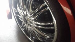 """20"""" DUB TIS07 RIMS and super low pro tires (need gone asap)"""