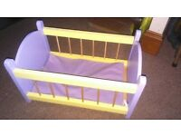 Build a Bear /Baby Annabel Wooden Cot Bed