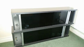 IKEA DVD/CD Cabinets Kaxas Smoked Glass Sliding Doors x 2