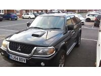 mitsubishi shogun sport warrior for sale as spares and repairs due to snapped timing belt.