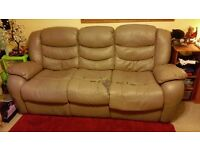free - 3 seater reclining sofa - NEED GONE TODAY