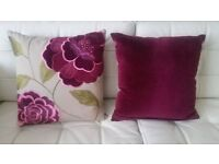 Various John Lewis cushion covers with inner cushion pads. For prices see description