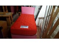 SINGLE DIVAN BED BASE WITH HEADBOARD & MATTRESS VERY COMFY FIRM MATTRESS CAN DELIVERY LOCAL
