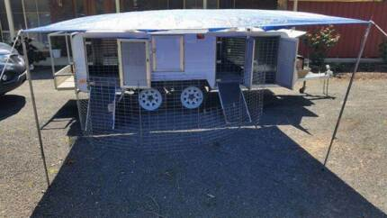 Toledo dog trailer, with fitted Air conditioner and generator.