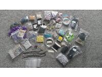 Crafts, Beads, Carry Case. Job Lot