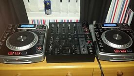 numark ndx900s and mixer