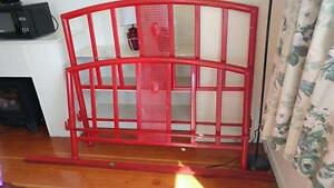 Rot iron double bed frame