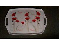 Dinner Tray with poppy Design