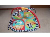 Bright Starts baby playmat with toys and mirror