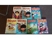 Classic The Beano Books x 7 - Good Condition