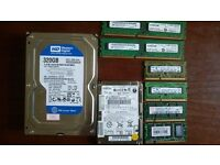 512MB, 1GB, 2B, 4GB RAM, 30GB, 250GB Hard Drive