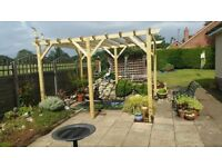 Wooden Garden Pergola 3.6m x 3.6m. National delivery included