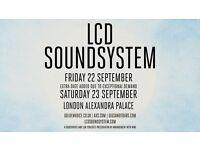 2 x LCD Soundsytem Tickets, Alexandra Palace London, Saturday September 23rd, SOLD OUT - Face Value