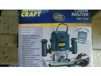 Power craft router, model PBF1200 1200w,