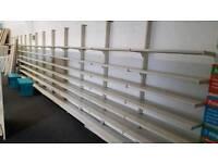 Shop Display Shelving Units, 100cm x 230cm per section - £70 per section