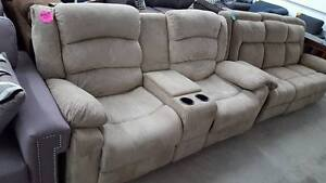 New double reclining loveseat with console - delivery available