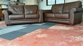Chocolate Leather Sofa