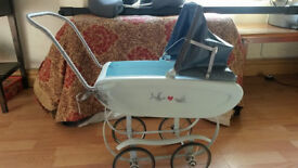 Small Upcycled antique dolls pram